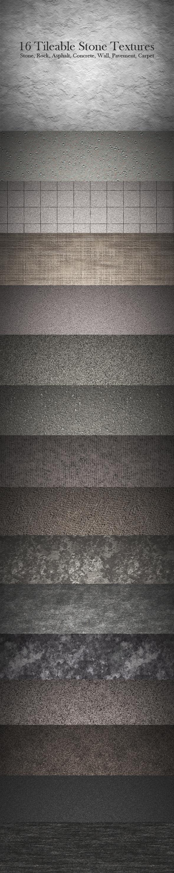 16 Tileable Stone Textures