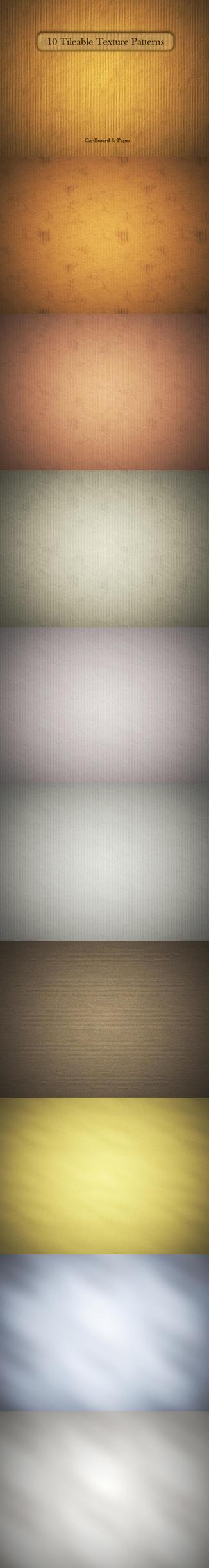 10 Cardboard Paper Textures by MuzikizumWeb