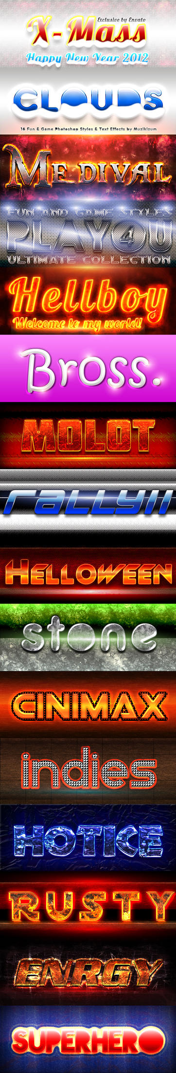 Fun N Game Photoshop Styles 4 by MuzikizumWeb