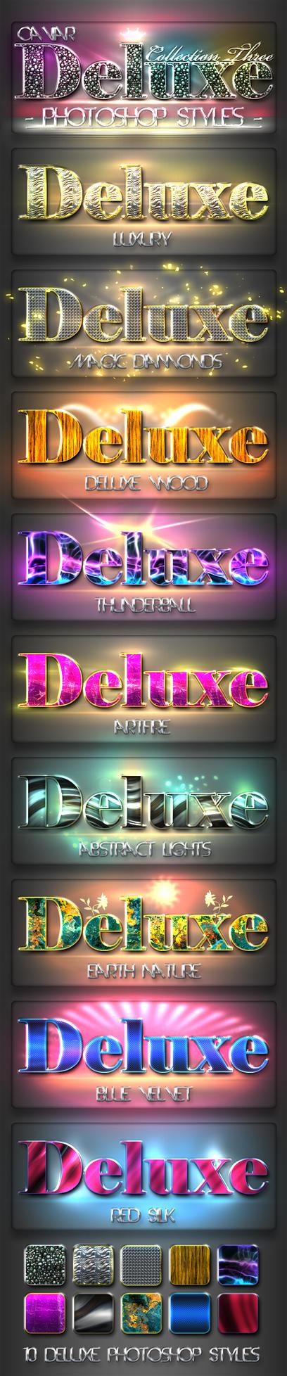 10 DeLuxe Photoshop Layer Styles C3 by MuzikizumWeb