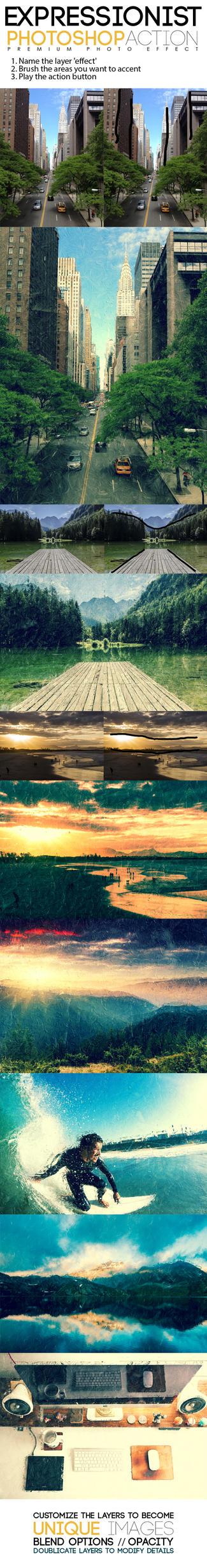 Expressionist Photoshop Action by MuzikizumWeb
