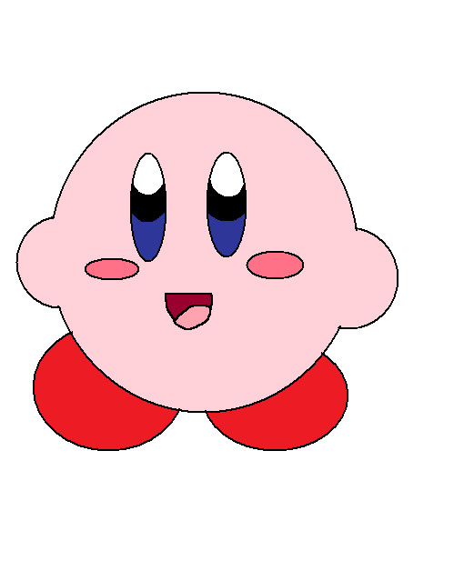 how to draw : cute kirby