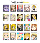 AJ's Other Top 20 Favorite Blondes (EDITED)