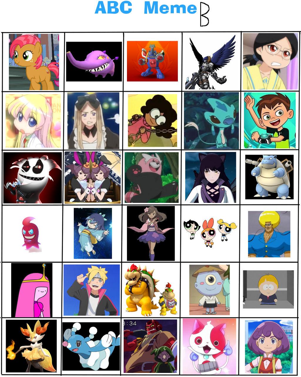 Favorite B Characters (abc meme) UPDATE