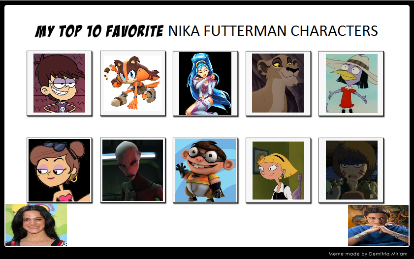 My Top 10 Nika Futterman Roles by ajpokeman on DeviantArt