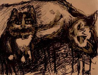 Cat portrait commission by ArtByJenX
