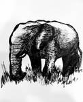 Elephant commission by ArtByJenX