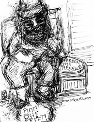 Damien Hurlbutt, Fartknocker - sketch
