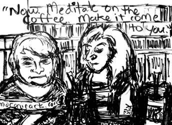 MoronicArts - JK and Sybil Kibble at Cafe