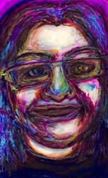 Self-Portrait in cool colours