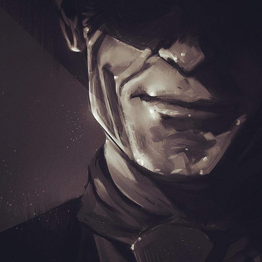 Westworld : The man in black wip by paulsimeonart