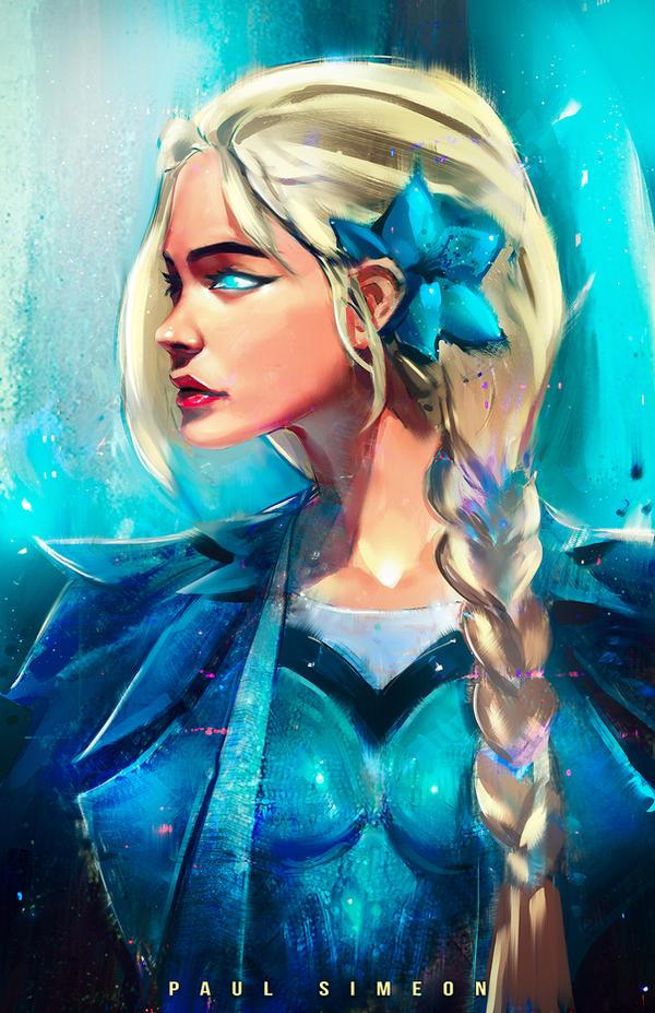 Elsa : Youtube by paulsimeonart