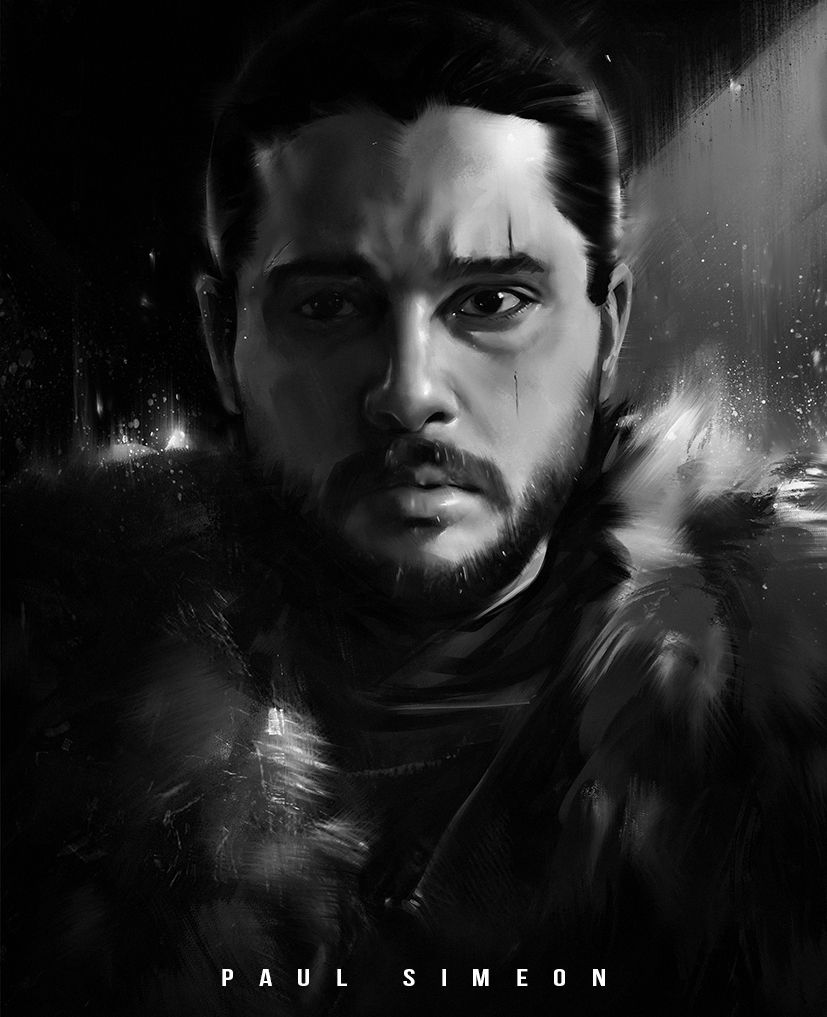 Jon Snow   Game of Thrones : YouTube!! by paulsimeonart