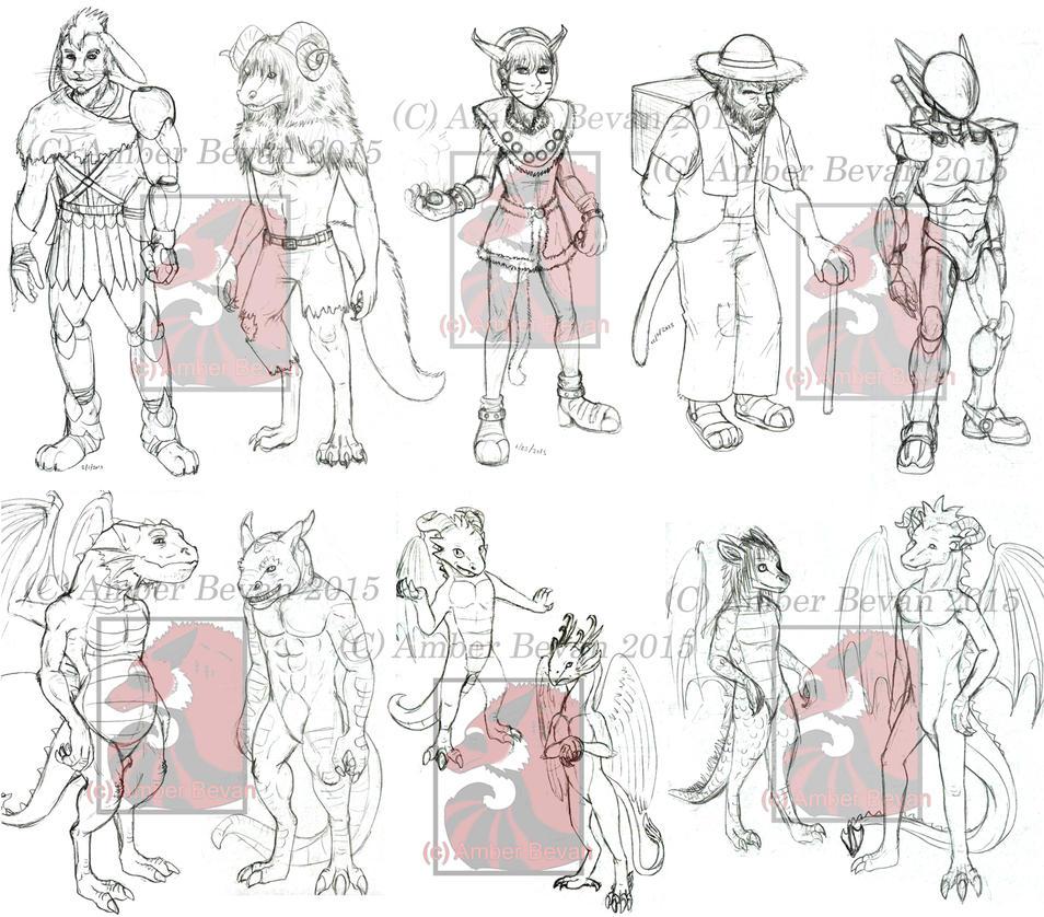Sketch Dump VI by meroe1313