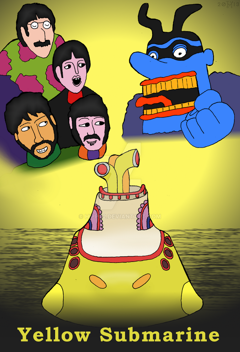 Art Trade: Yellow Submarine poster by hippo2