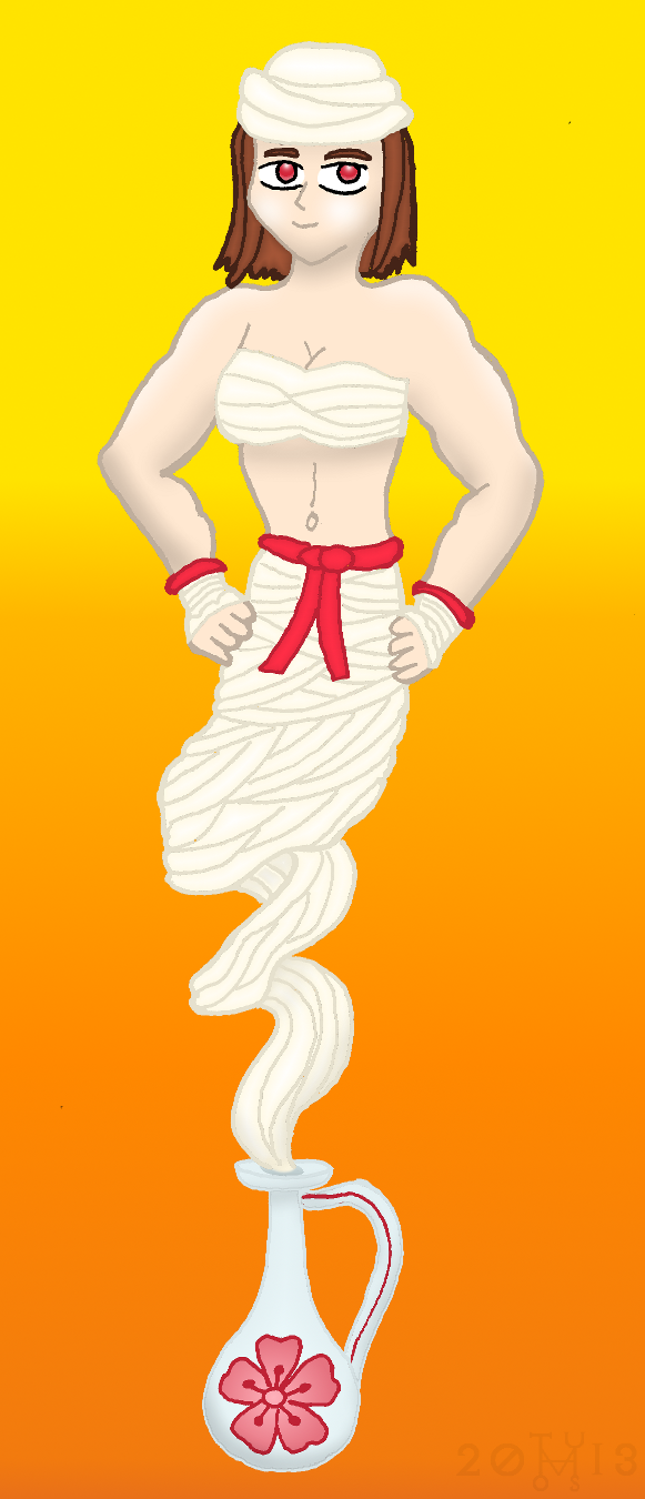 Art Trade: Malana the genie by hippo2