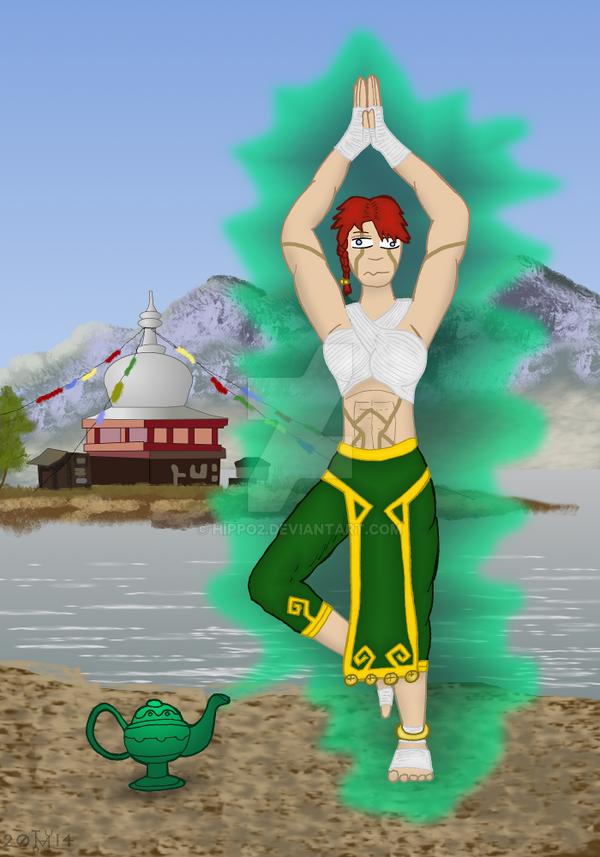 Art Trade: Atla the genie by hippo2