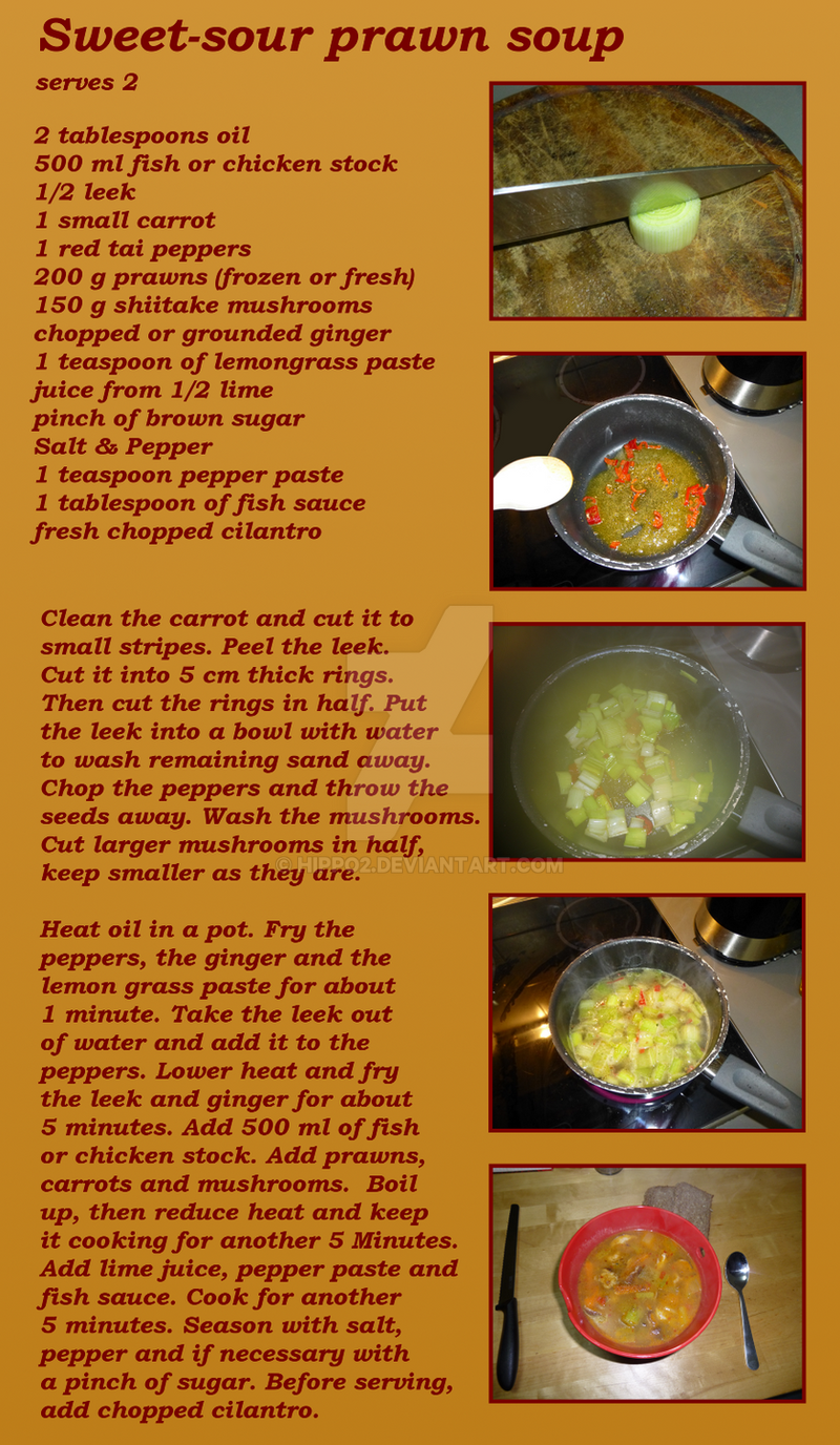 Sweet-Sour Prawn Soup by hippo2