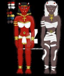 Egyptian Oni and Mummy