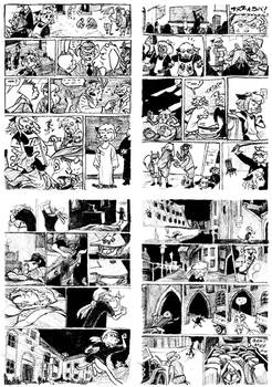 Zuzel and the Fox page layouts 6