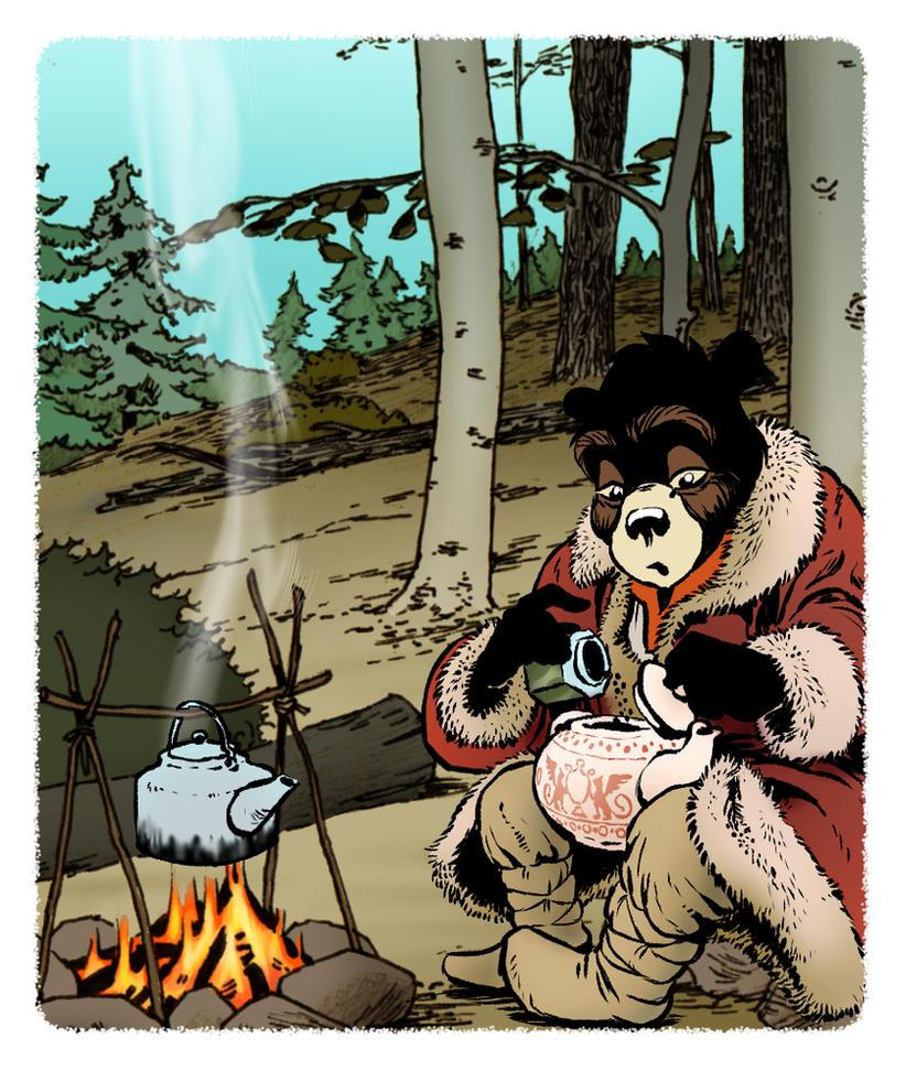 Malutki makes campfire chai by PeterDonahue