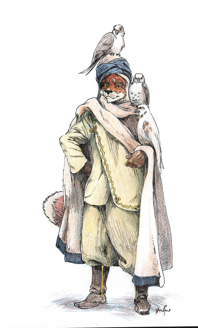 Foxy Falconer, a la Loomis by PeterDonahue