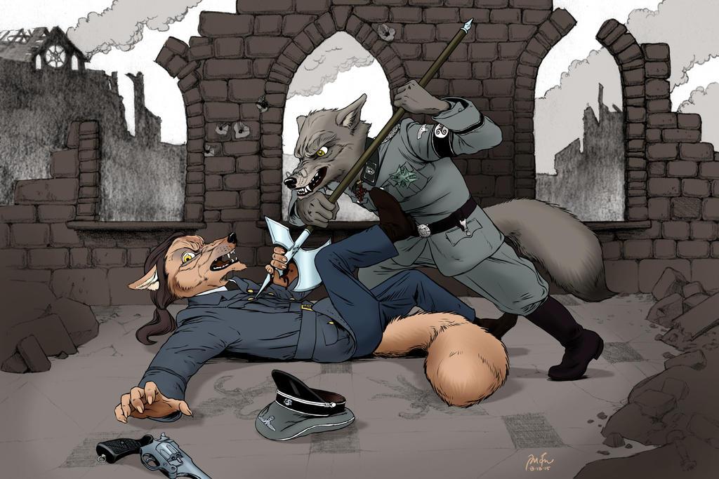 The halberd was pressed against his breastbone... by PeterDonahue
