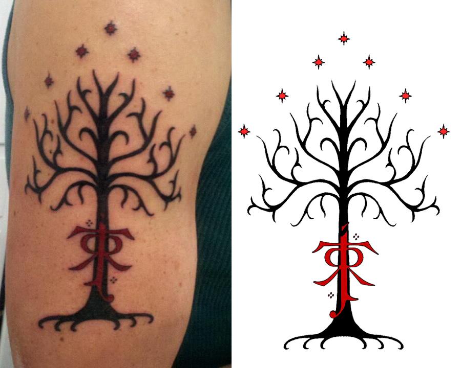 Tree Of Gondor Tolkien Tattoo By Shaefurr On Deviantart