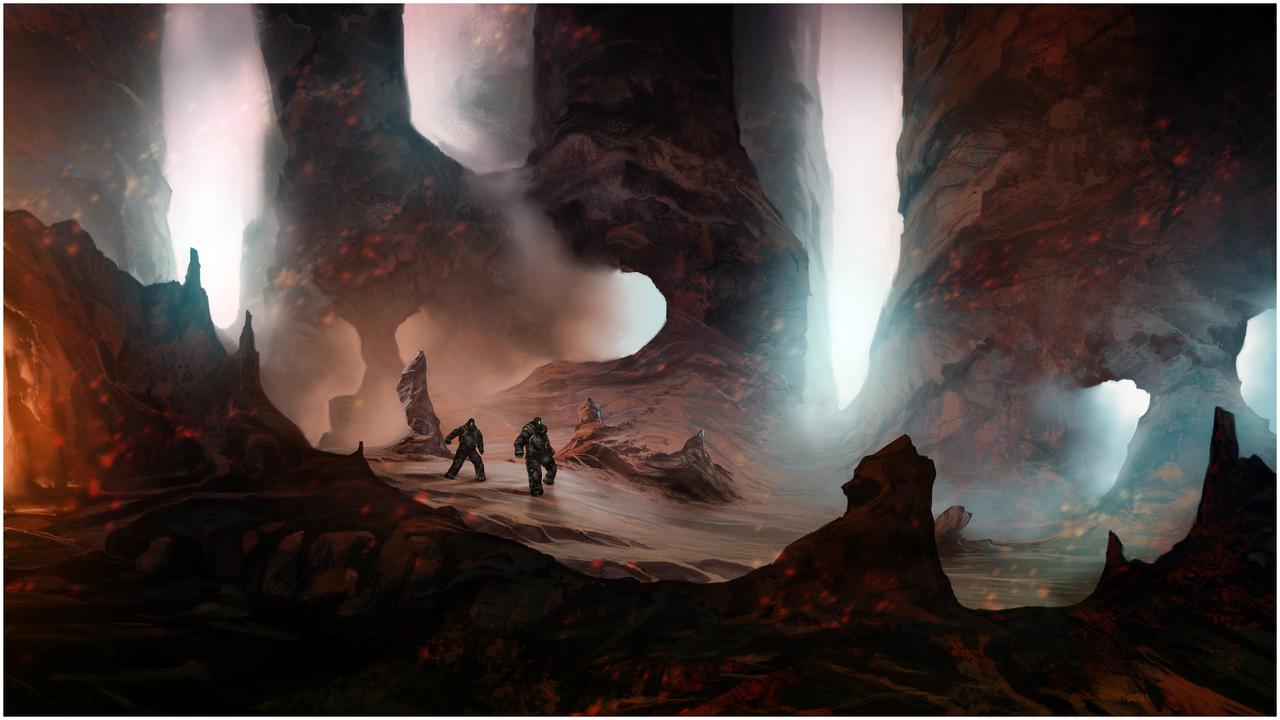 Alien Landscape by Mull-Art