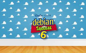 Debian room by mdh3ll