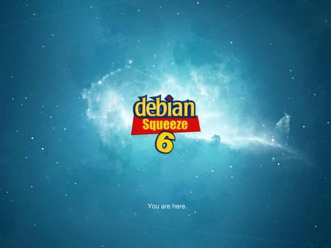 Debian Space - planet blue