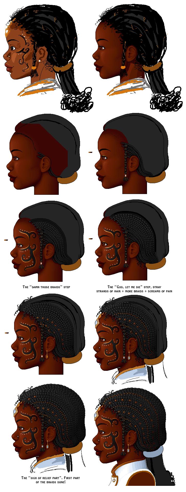 Big head wip - steps by meririm