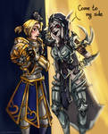 Sylvana x Anduin by Ch3rrydwen