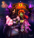 Date at the Darkmoon Faire by Ch3rrydwen