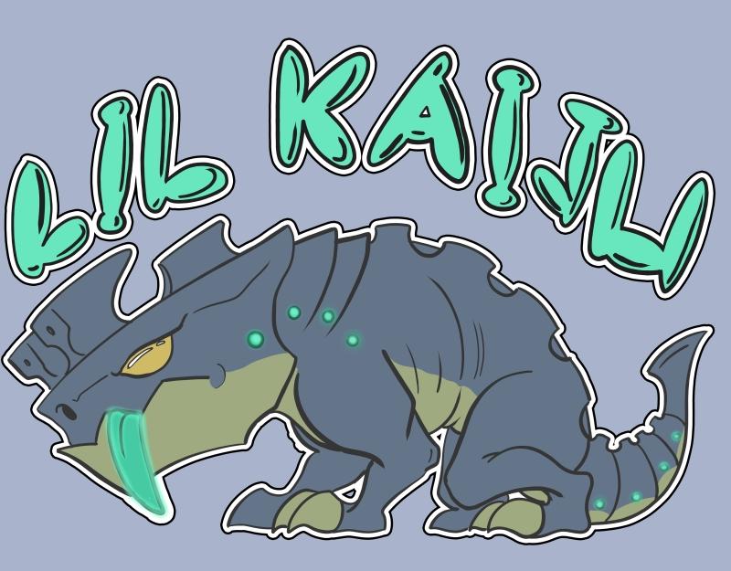 Lil Kaiju - shirt design by Grieverjoe
