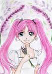 Watercolor Lavanda girl