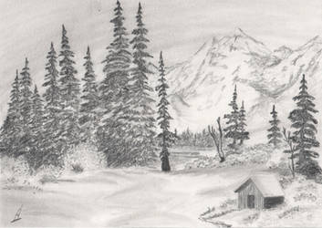 Snowy Landscape by AlvaroGJ