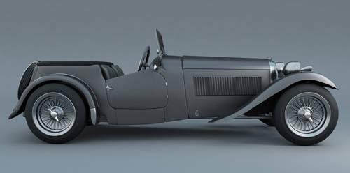 Sports car 1948 3D Model