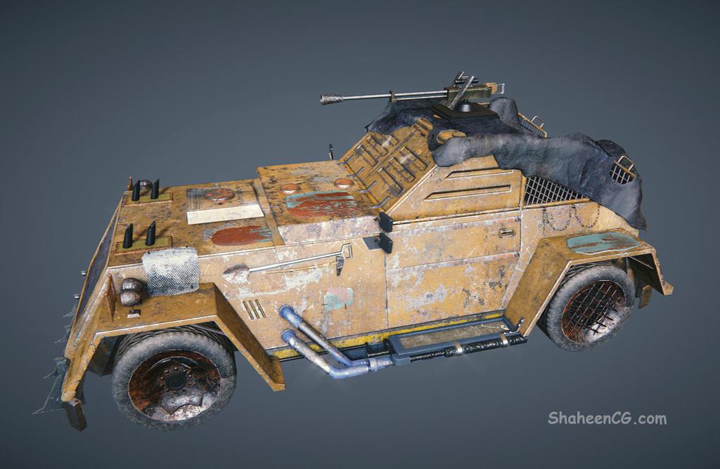 Post Apocalyptic vehicle by LeDemonHacker