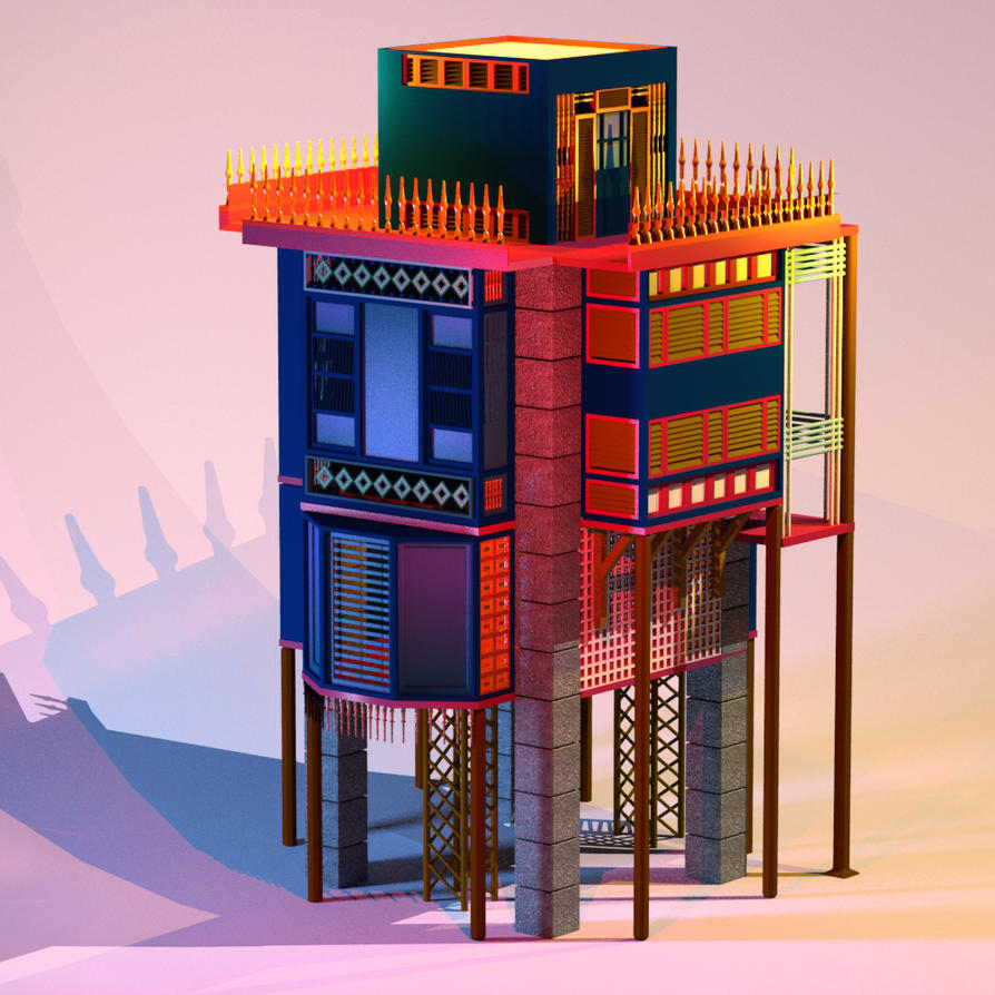 Arabic House 3D by LeDemonHacker