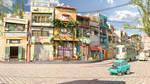 Cartoon street