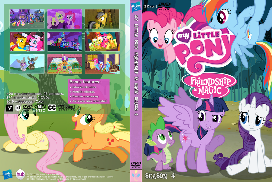 my little pony season 4 unofficial dvd cover by damagics on deviantart