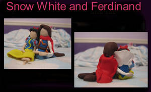 Snow White and Ferdinand- clay