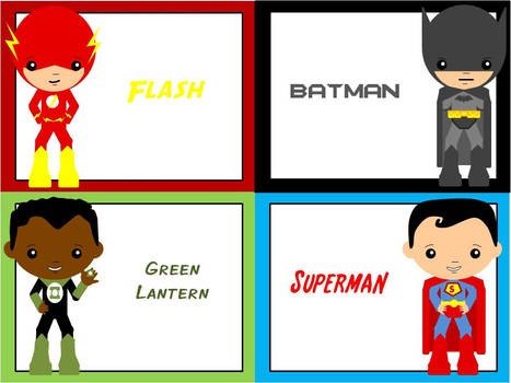 Flash, Batman, Green Lantern, Superman