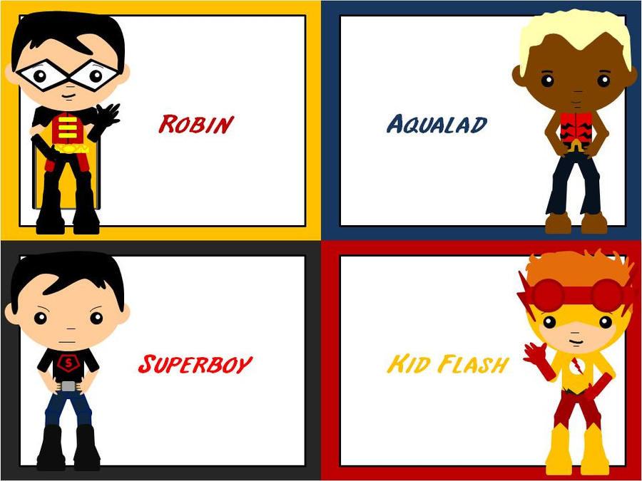 Young Justice Boys - Chibi by ProtectorKorii