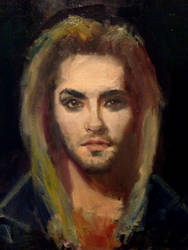 Bill with blonde hair