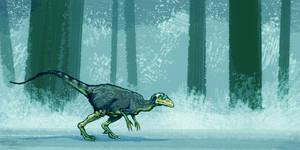 Eoraptor colored by Dinostavros