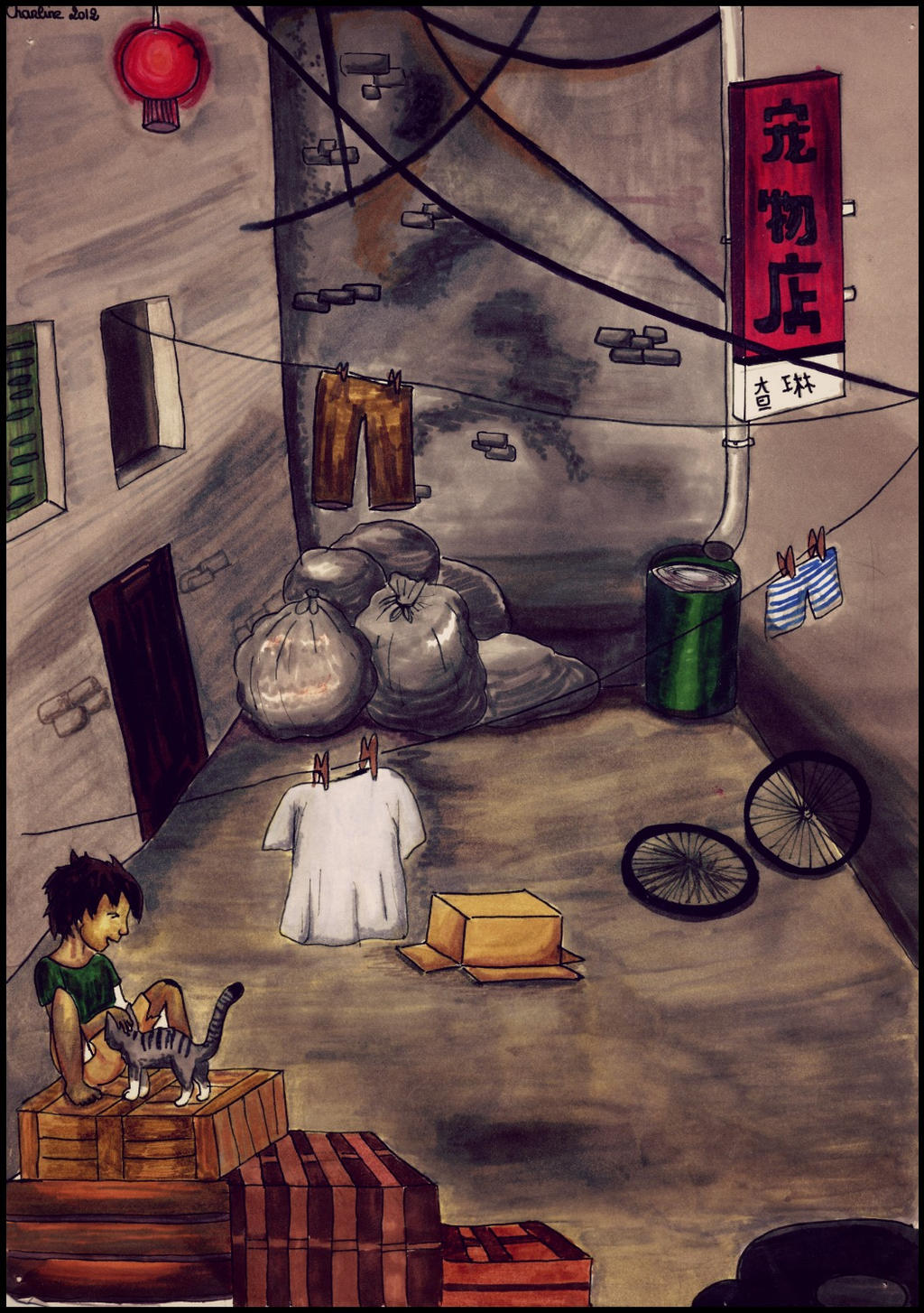 I'm still drawing - Luciole Asian_street_by_fireflys_drawing-d6aa3c8