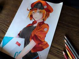 Red blood Cell--- Hataraku Saibou/Cells at Work by tak17hiro