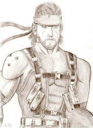 Solid Snake by RainaAudron